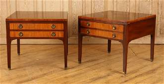 PAIR KITTINGER FEDERAL STYLE MAHOGANY END TABLES