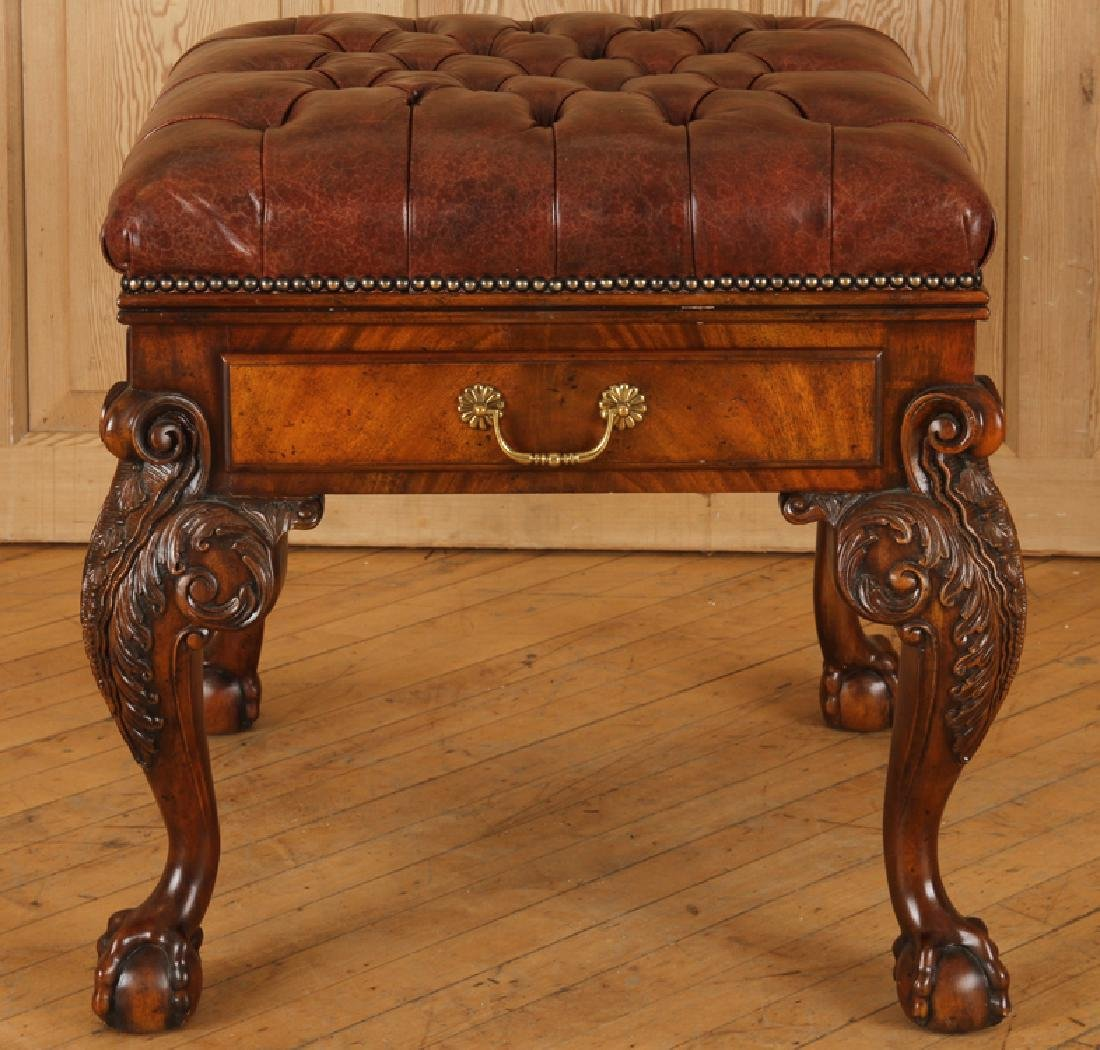 Gentil CARVED MAHOGANY BENCH BY MAITLAND SMITH