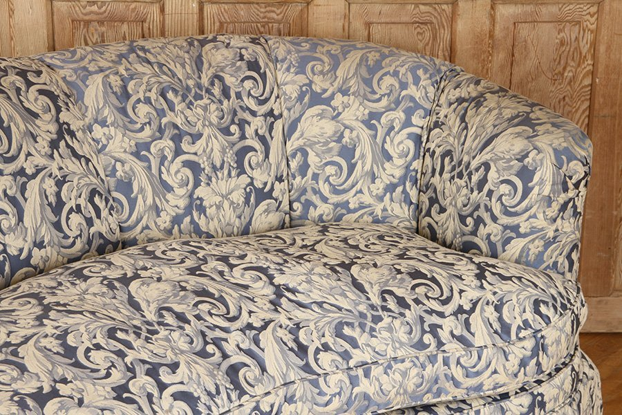 CRESCENT FORM FRENCH SOFA UPHOLSTERED CIRCA 1940 - 3