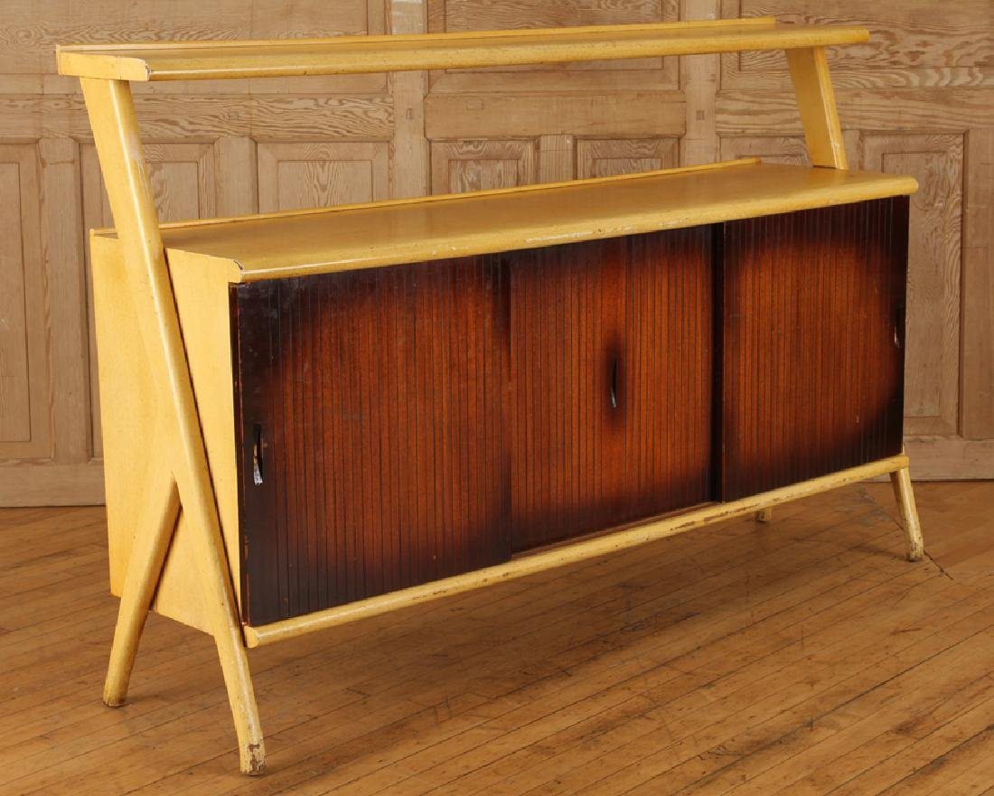 BLONDE MAHOGANY CREDENZA MANNER VLADIMIR KAGAN