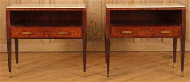PAIR ITALIAN SIDE TABLES MANNER OF PAOLO BUFFA