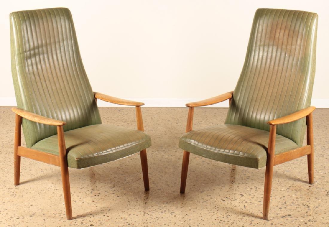 Wondrous Pair Mcm Danish Arm Chairs Leather And Oak Frame Download Free Architecture Designs Griteanizatbritishbridgeorg