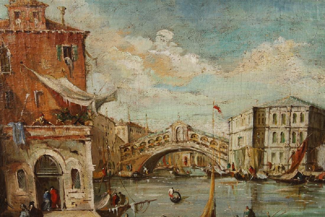 19TH CENT. OIL ON CANVAS VENETIAN CANAL SCENE - 2