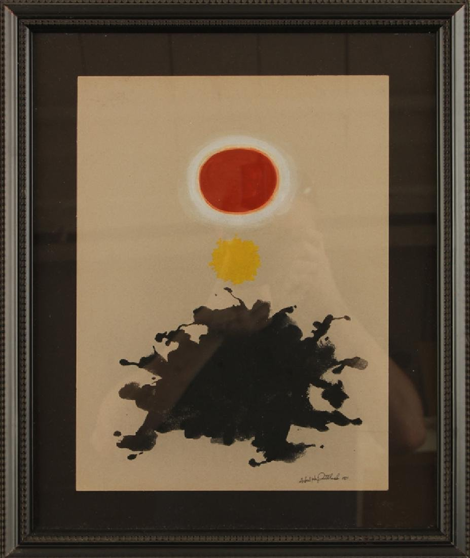 MANNER OF ADOLPH GOTTLIEB GOUACHE ON PAPER SIGNED