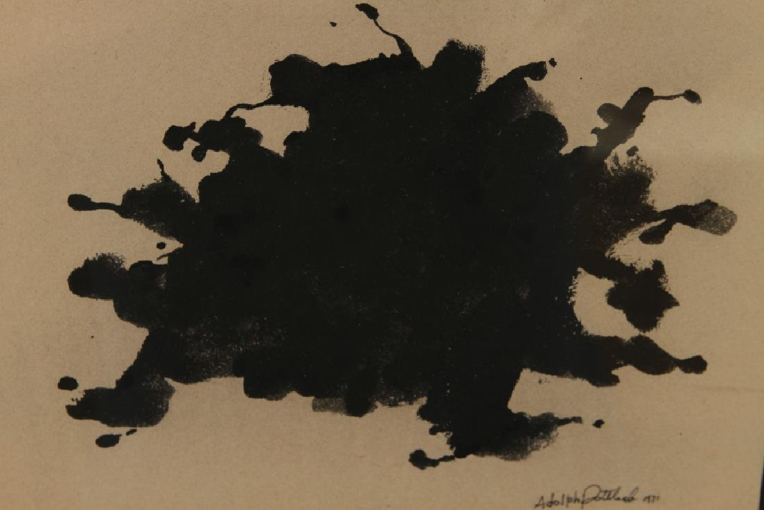 MANNER OF ADOLPH GOTTLIEB GOUACHE ON PAPER SIGNED - 3
