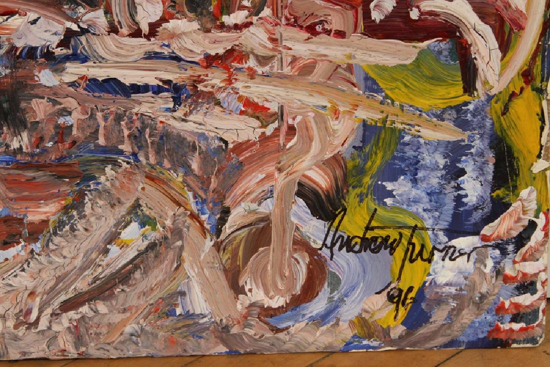 ANDREW TURNER ABSTRACT COMPOSITION SIGNED DATED - 4