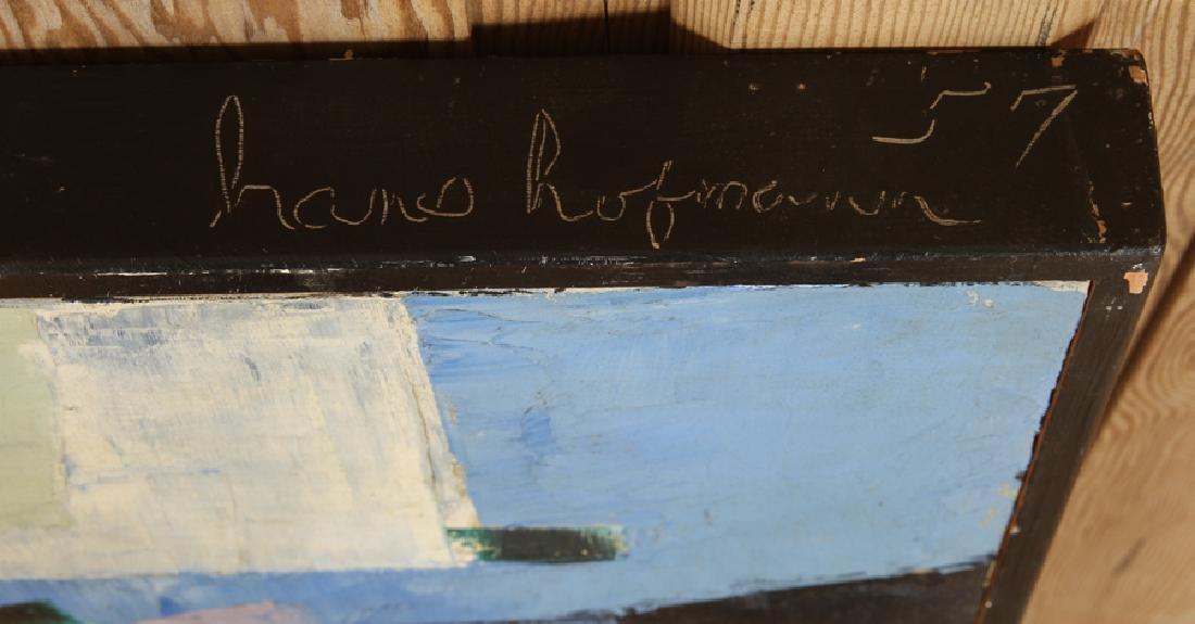 MANNER OF HANS HOFMANN OIL ON CANVAS SIGNED - 5
