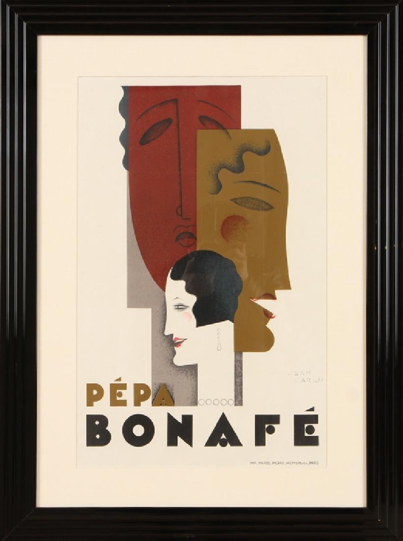 "JEAN CARLU ""PEPA BONAFE"" LITHOGRAPH CIRCA 1928"