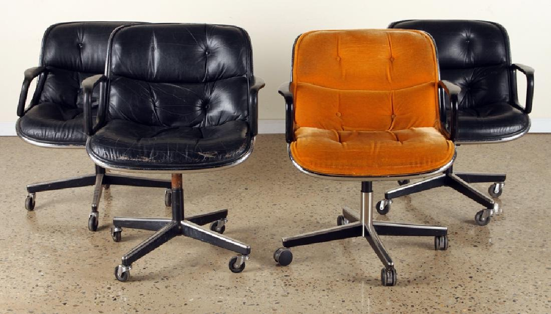 SET 4 CHARLES POLLOCK EXECUTIVE CHAIRS BY KNOLL