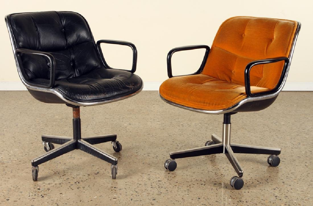 SET 4 CHARLES POLLOCK EXECUTIVE CHAIRS BY KNOLL - 2