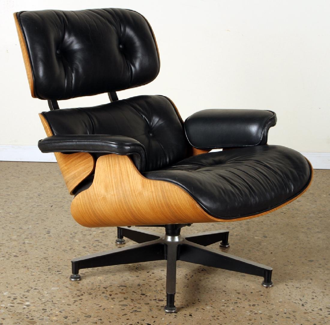 CHARLES EAMES FOR HERMAN MILLER CHAIR & OTTOMAN - 2