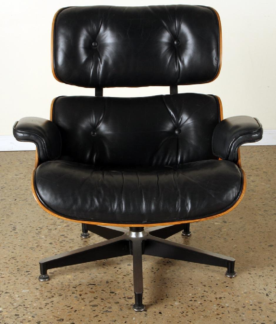 CHARLES EAMES FOR HERMAN MILLER CHAIR & OTTOMAN - 3