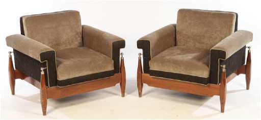 78edc42e08d1f PAIR MID CENTURY MODERN CLUB CHAIRS 1960