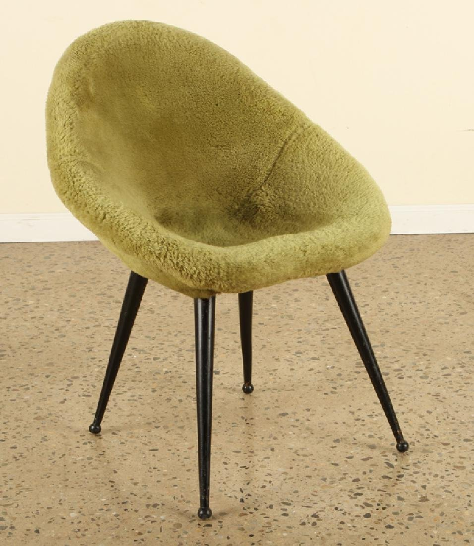 FRENCH EGG SHAPE UPHOLSTERED CHAIRS C. 1950 - 2