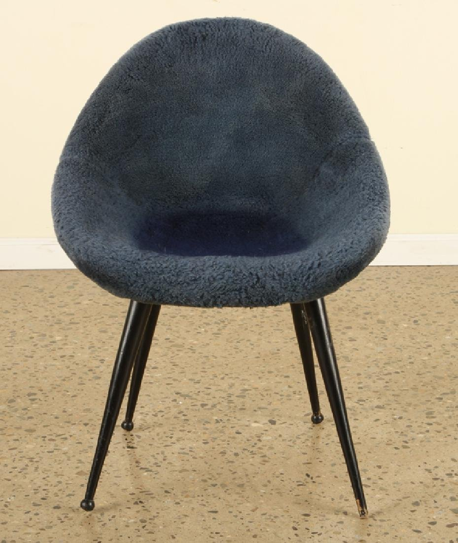 FRENCH EGG SHAPE UPHOLSTERED CHAIRS C. 1950 - 3
