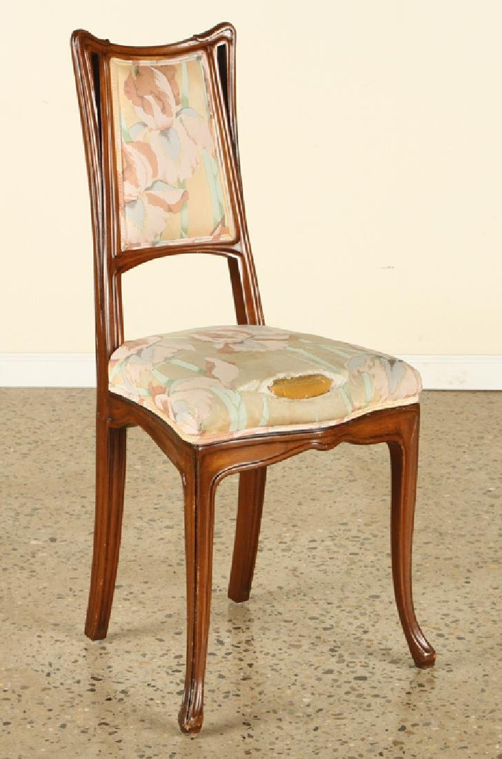 FRENCH ART NOUVEAU STYLE UPHOLSTERED SIDE CHAIR