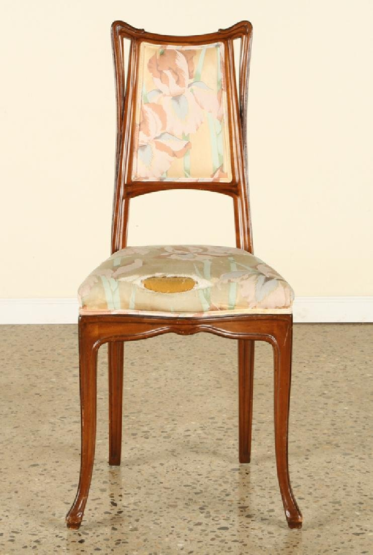 FRENCH ART NOUVEAU STYLE UPHOLSTERED SIDE CHAIR - 2