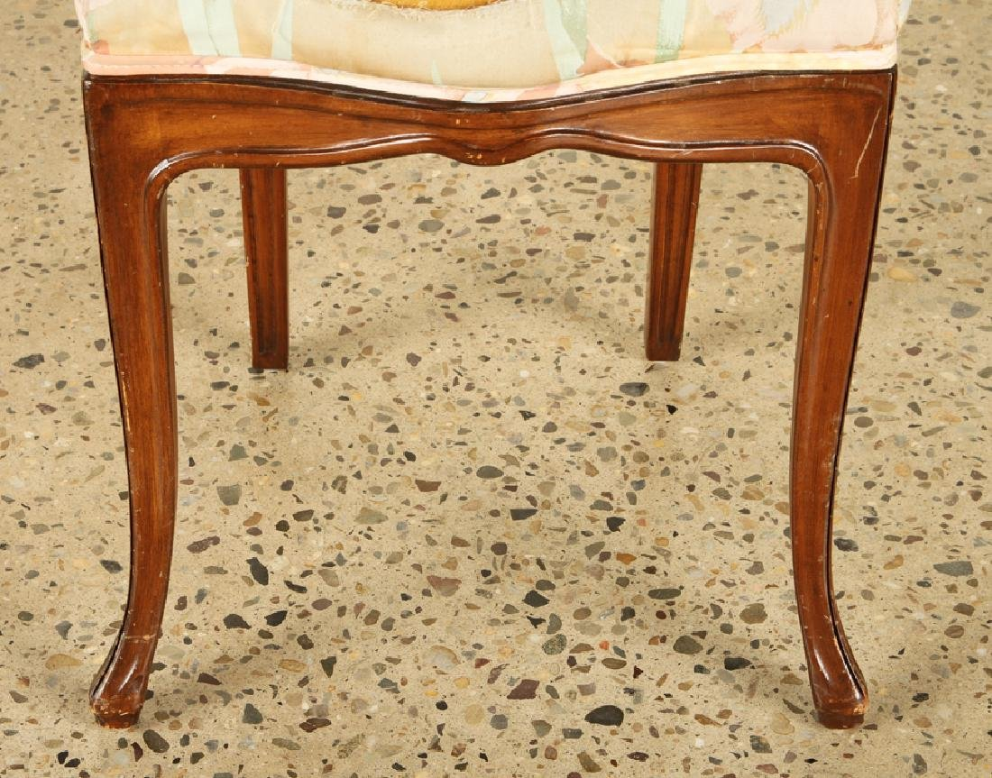 FRENCH ART NOUVEAU STYLE UPHOLSTERED SIDE CHAIR - 4