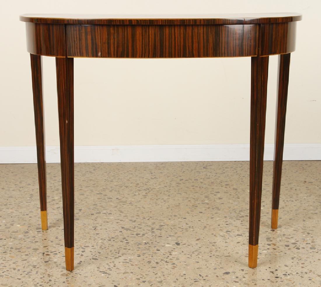 PAIR ART DECO MACASSAR VENEERED CONSOLE TABLES - 2