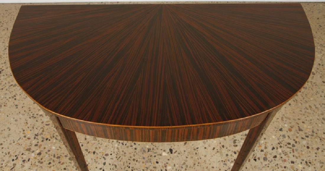 PAIR ART DECO MACASSAR VENEERED CONSOLE TABLES - 3