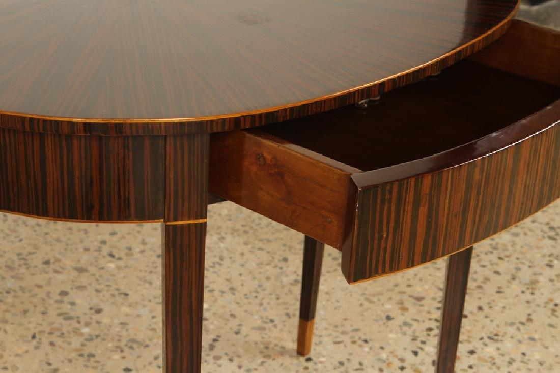 PAIR ART DECO MACASSAR VENEERED CONSOLE TABLES - 4