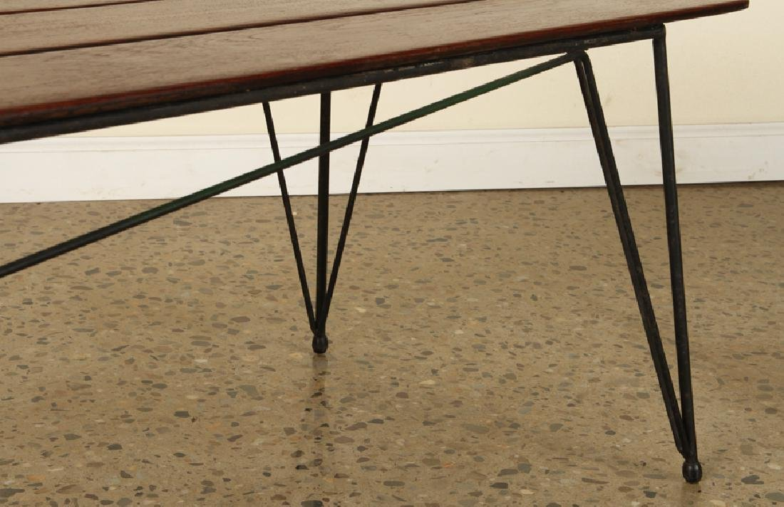 ITALIAN IRON & WOOD COFFEE TABLE 1950 - 5