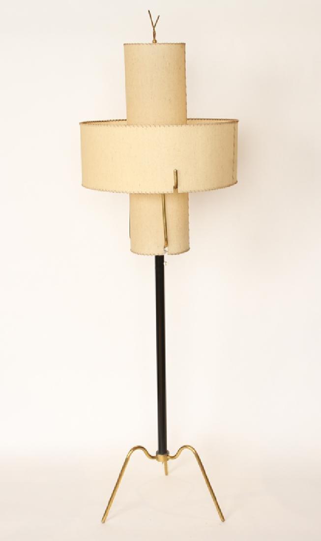 MID CENTURY MODERN ITALIAN BRASS FLOOR LAMP