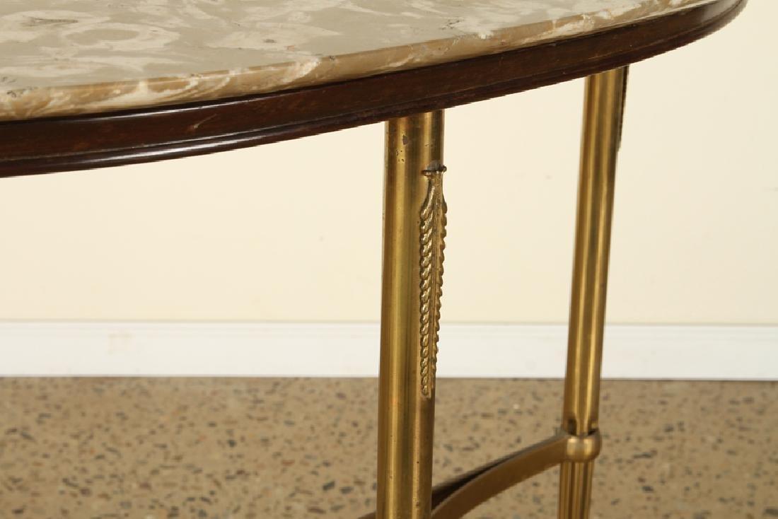 ITALIAN BRASS DEMILUNE CONSOLE TABLE 1950 - 4