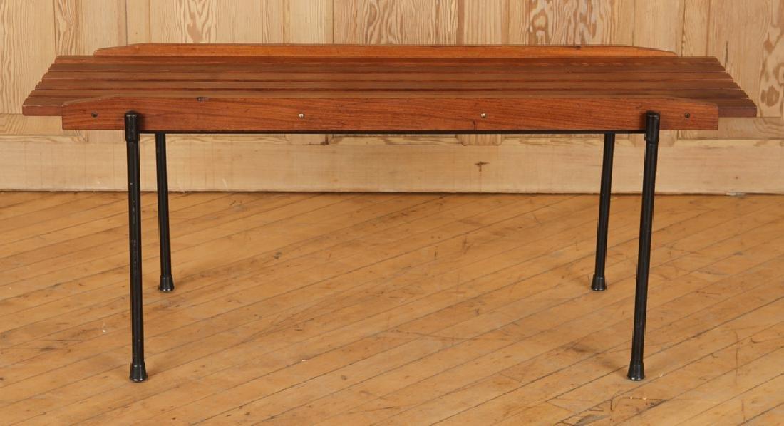 ITALIAN WOOD IRON COFFEE TABLE OR BENCH C.1950 - 2