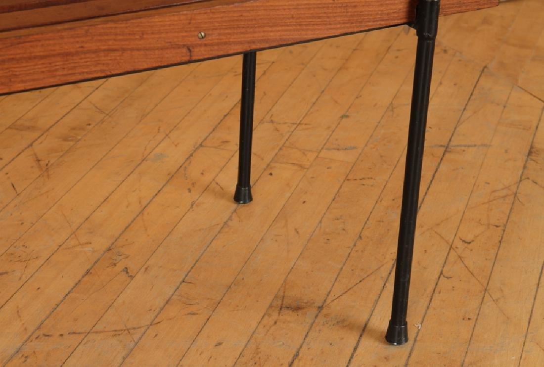 ITALIAN WOOD IRON COFFEE TABLE OR BENCH C.1950 - 5