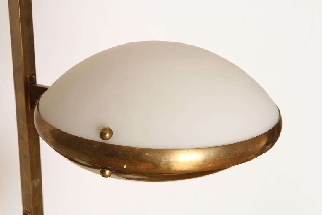 ITALIAN MID CENTURY MODERN BRASS GLASS CHANDELIER - 2