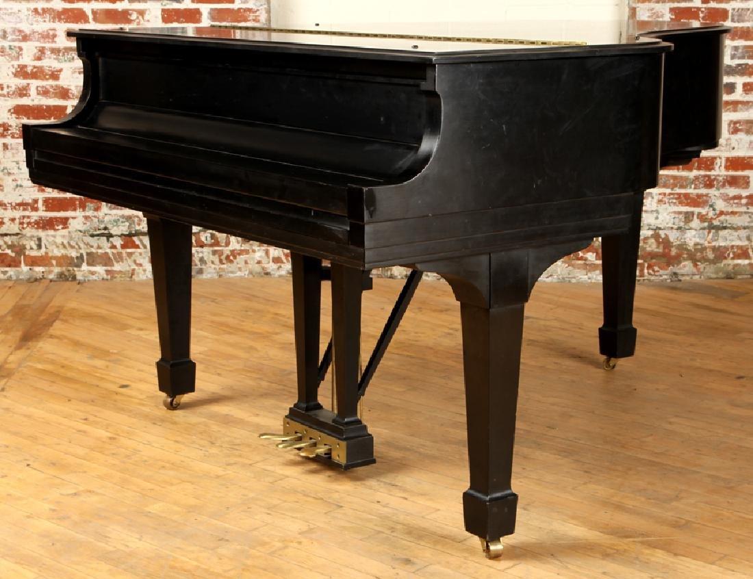 EBONIZED BABY GRAND MODEL M PIANO BY STEINWAY & SONS - 2
