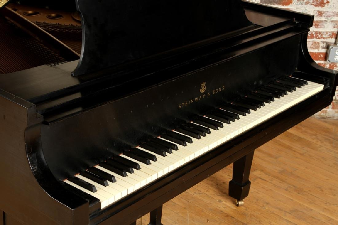 EBONIZED BABY GRAND MODEL M PIANO BY STEINWAY & SONS - 5