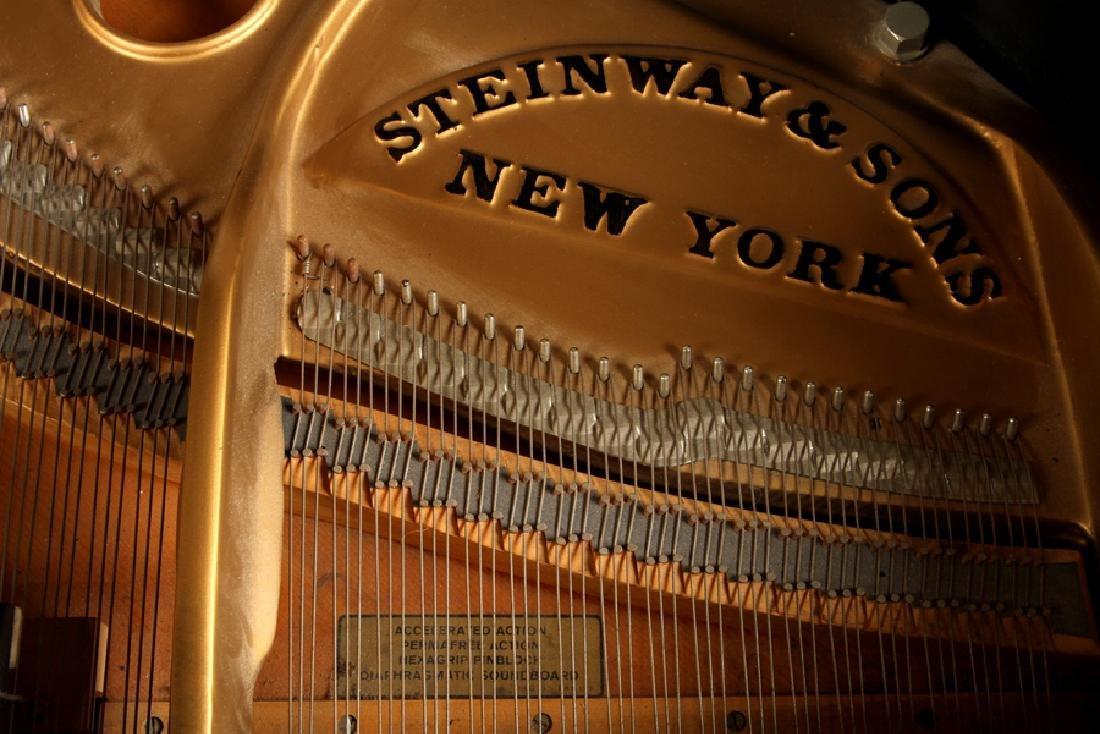EBONIZED BABY GRAND MODEL M PIANO BY STEINWAY & SONS - 7