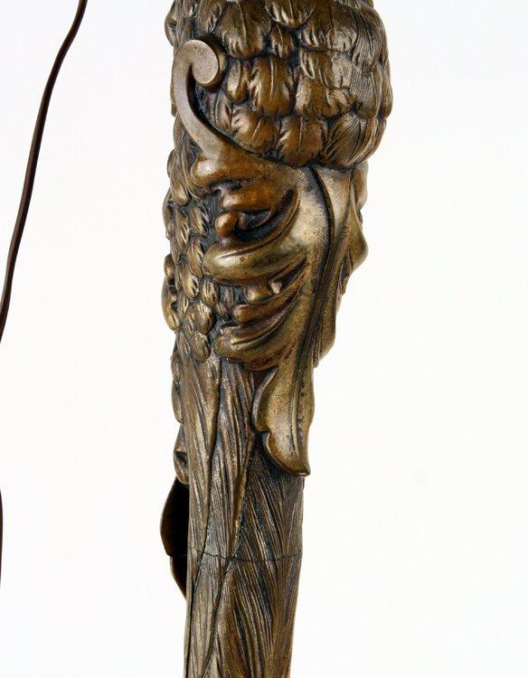 P.E. GUERIN BRONZE OSTRICH LEG FORM FLOOR LAMP - 4
