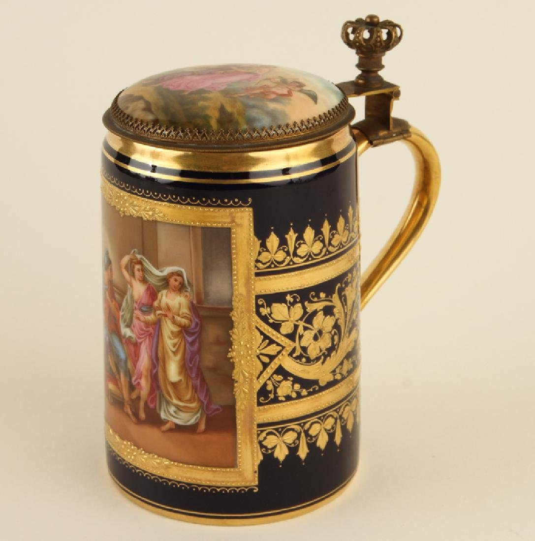 ROYAL VIENNA HAND PAINTED PORCELAIN STEIN