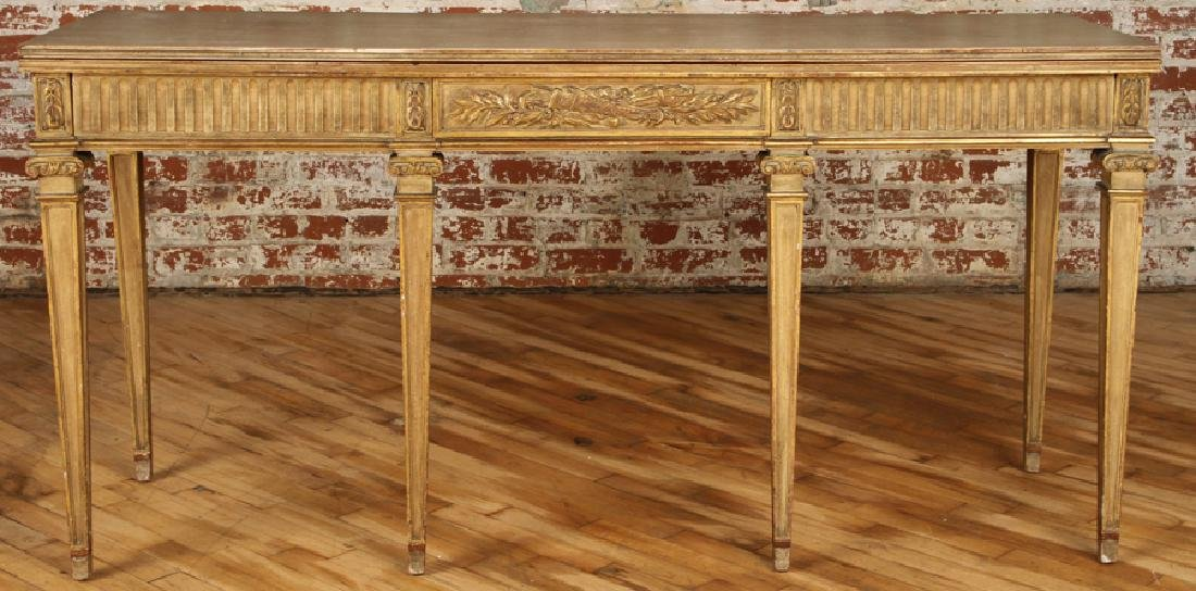 JANSEN DIRECTOIRE STYLE GILTWOOD PAINTED CONSOLE
