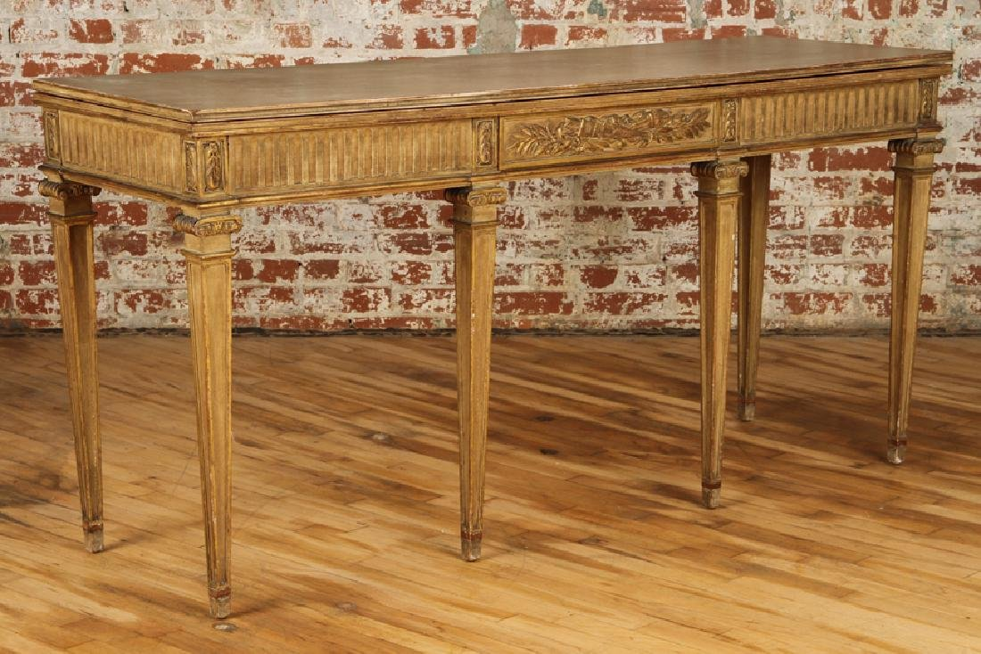JANSEN DIRECTOIRE STYLE GILTWOOD PAINTED CONSOLE - 2