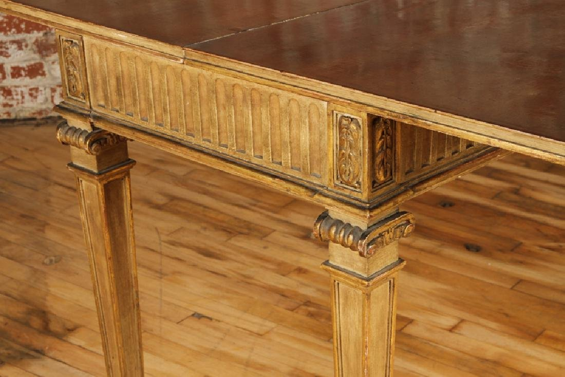 JANSEN DIRECTOIRE STYLE GILTWOOD PAINTED CONSOLE - 6
