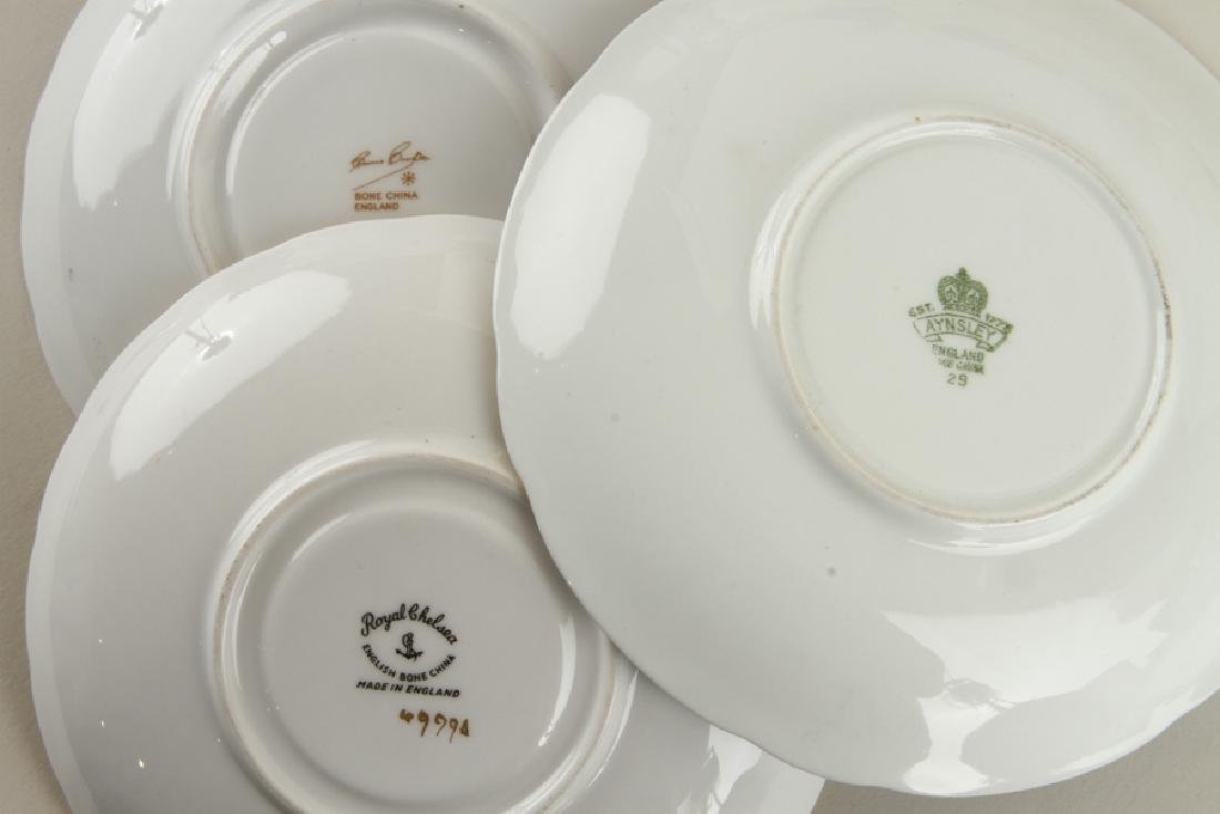 32 HAND PAINTED PORCELAIN TEA CUPS AND SAUCERS - 9