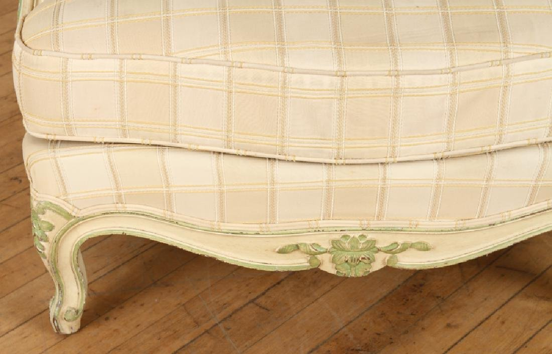PAIR FRENCH LOUIS XV STYLE BERGERE CHAIRS C.1940 - 6