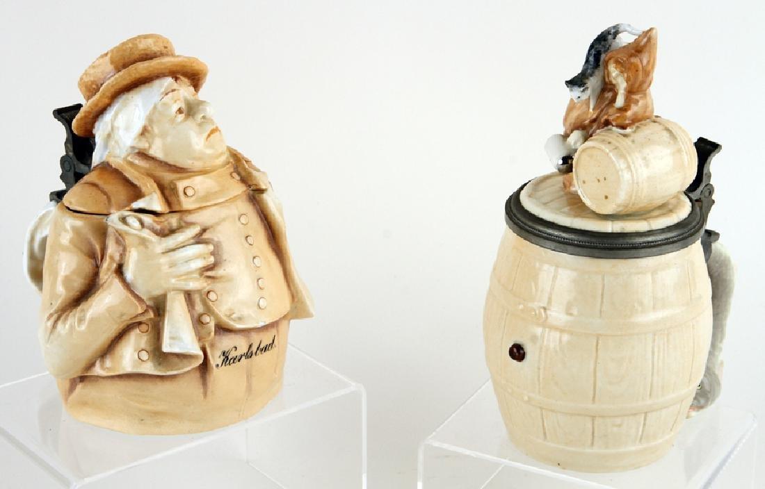 TWO GERMAN SCHIERHOLZ CHARACTER BEER STEINS
