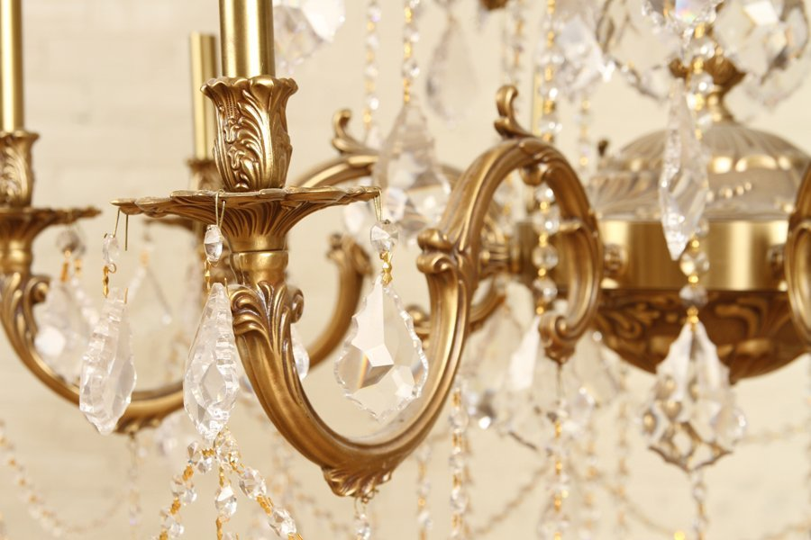 FRENCH STYLE 24 ARM BRONZE CRYSTAL CHANDELIER - 5