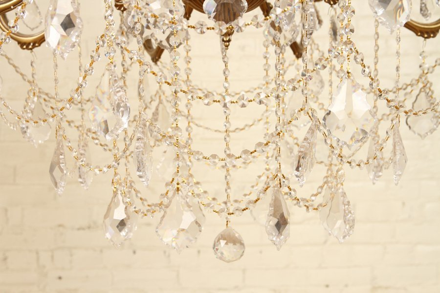 FRENCH STYLE 24 ARM BRONZE CRYSTAL CHANDELIER - 6