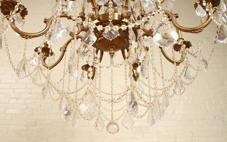 FRENCH STYLE 24 ARM BRONZE CRYSTAL CHANDELIER - 7