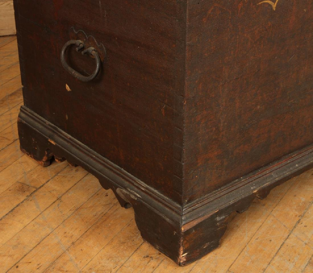 18TH C. PAINTED CONTINENTAL BLANKET CHEST - 6