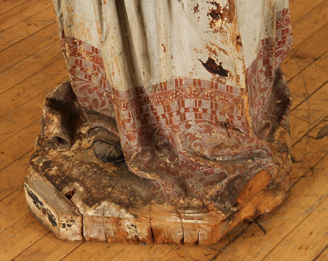 19TH CENT. CARVED WOOD RELIGIOUS FIGURE - 6
