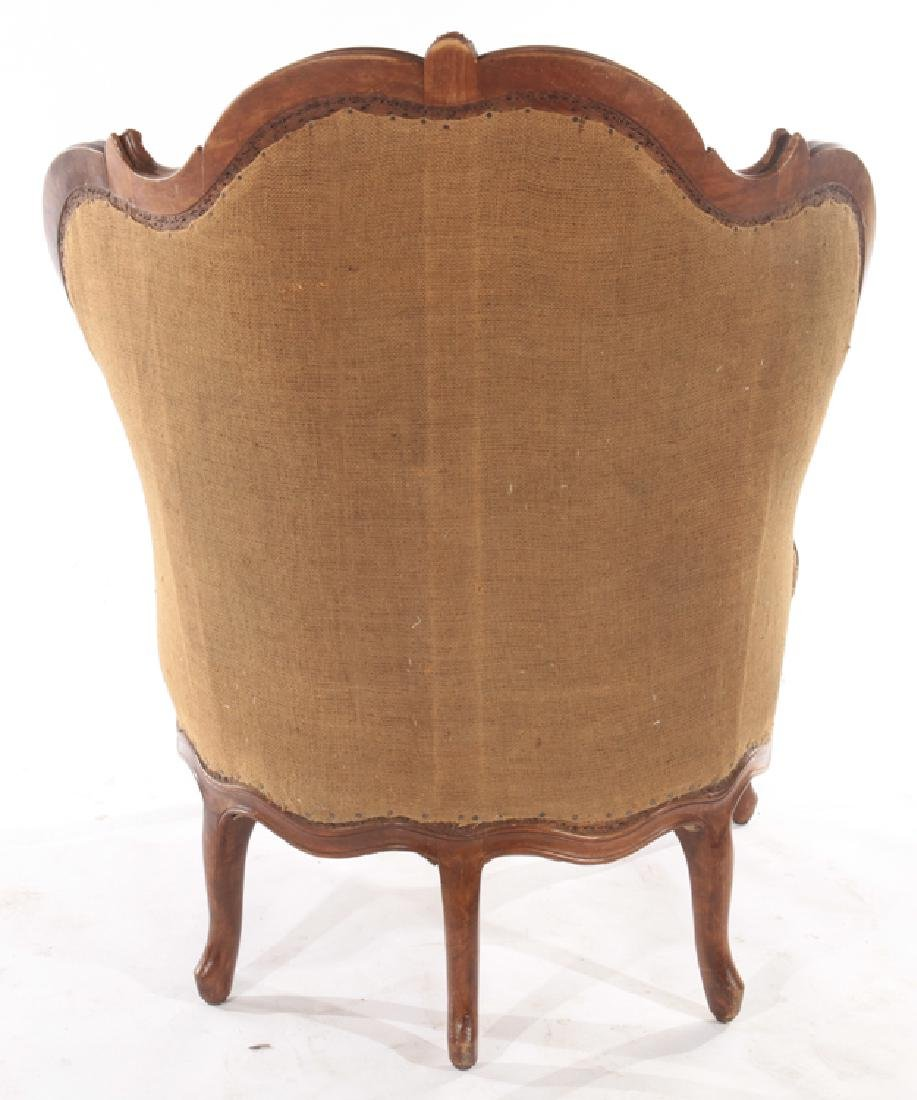 A FRENCH LOUIS XV CARVED WALNUT BERGERE C. 1880 - 6