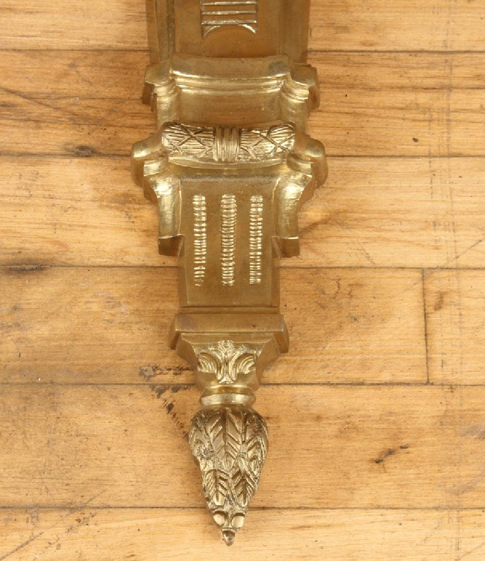 PAIR CAST BRONZE 5 ARM FRENCH STYLE WALL SCONCES - 7