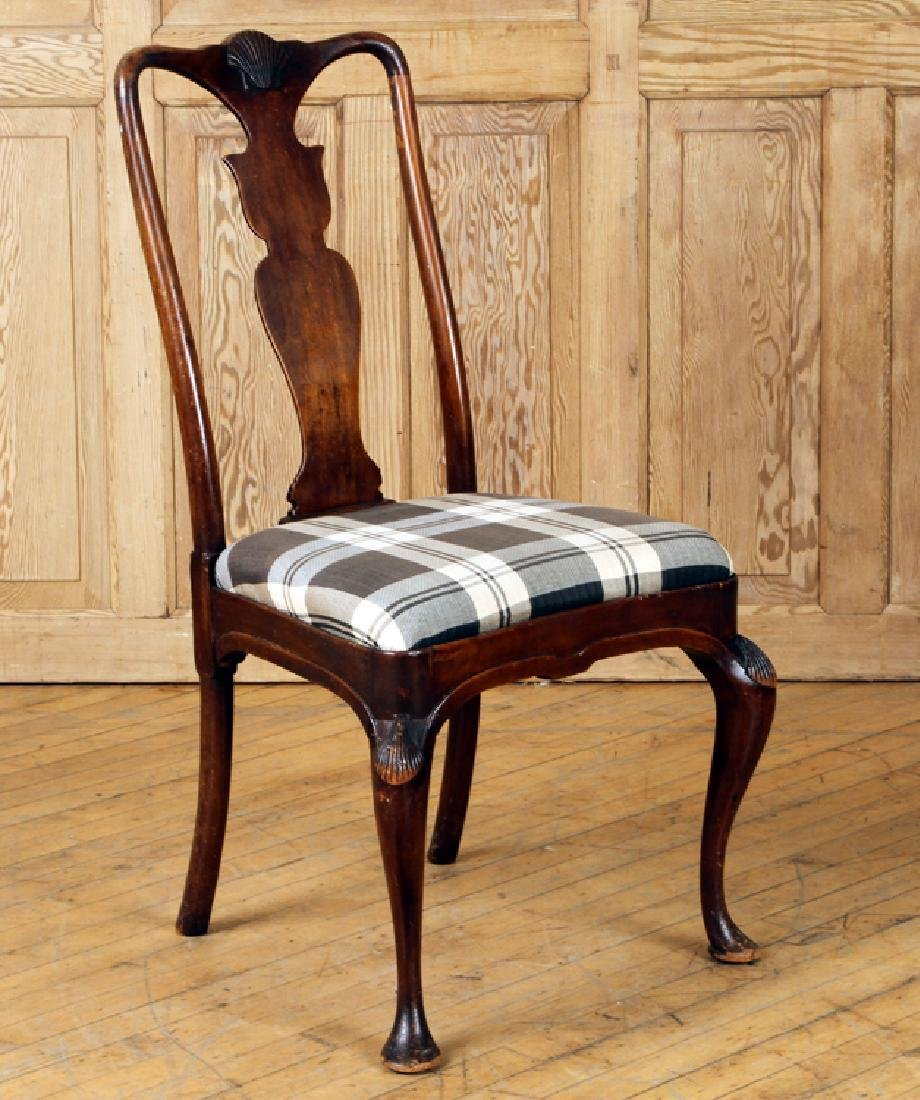 SET 4 QUEEN ANNE STYLE MAHOGANY SIDE CHAIRS C1900 - 2